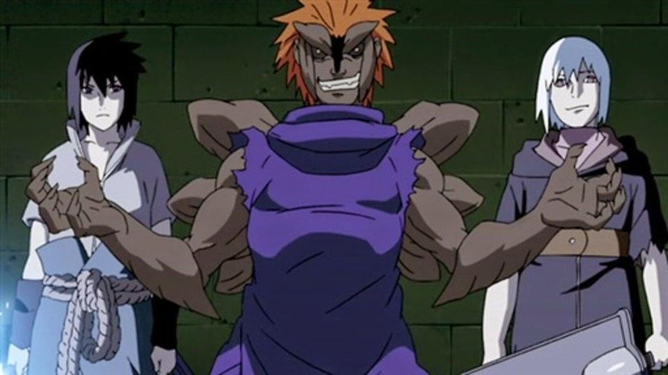 Sasuke, Jugo y Suigetsu