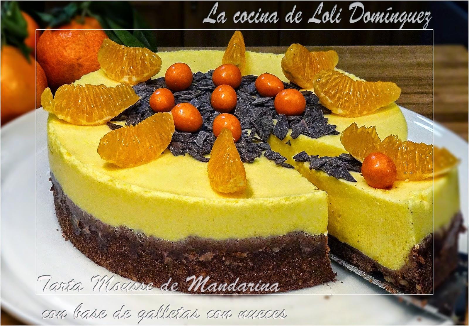 La cocina de loli dom nguez tarta mousse de mandarina con - Postre con mandarinas ...