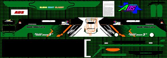 livery agam tungga jaya hijau tua jb3+ shd mn wsp mods
