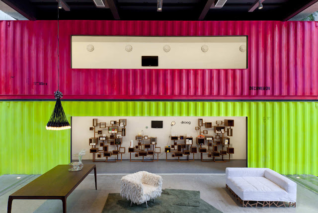 Decameron - Low Budget Colorful Shipping Container Store, Brazil 6