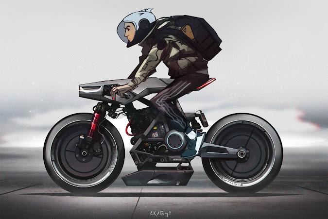 Cafe Racer 2045 Concept - Rodolphe Calcine