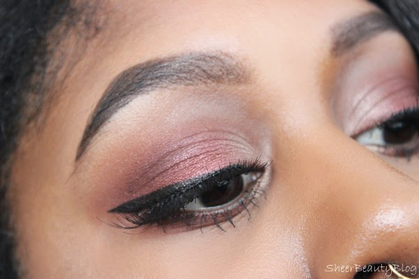 RED AND BROWN EYE MAKEUP