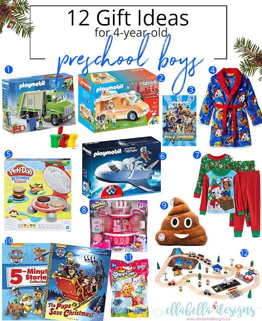 Top 12 Gift Ideas for 4-Year-Old Preschool Boys by Ellabella Designs