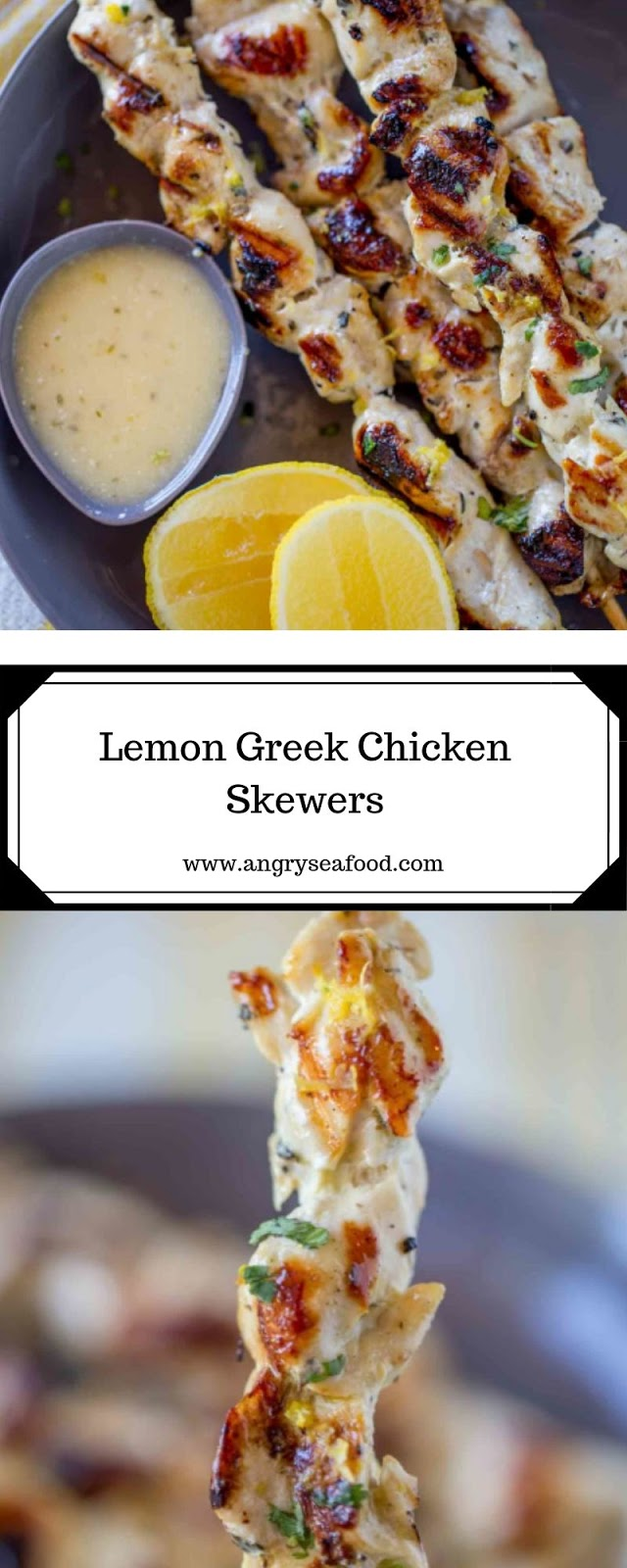 Lemon Greek Chicken Skewers