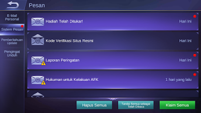 Cara redeem redemtion code mobile legend