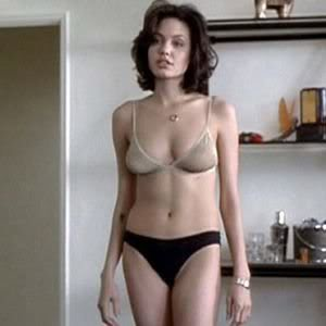 Angelina Jolie in sheer bra and panties in Gia 1998 movieloversreviews.blogspot.com
