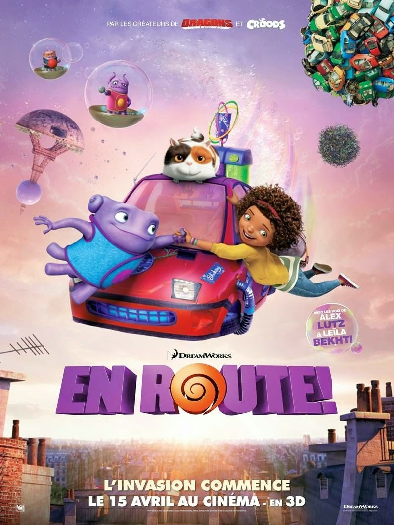 French Poster of 'Home' - DreamWorks Animation Movie