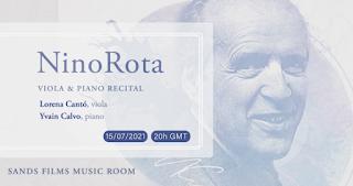 Nino Rota: Viola Sonatas at Sands Films Music Room