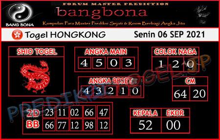 Prediksi Bangbona Togel Hongkong Senin 06 September 2021