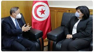 اجتماع عاجل لعبير موسي مع سفير جمهورية الصين بخصوص القضية الفلسطينية