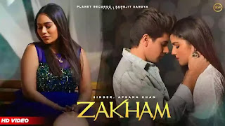Checkout Kunwarr & Afsana Khan New song Zakham lyrics penned by Meeru
