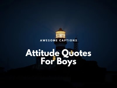 Best Attitude Status For Boys 2020