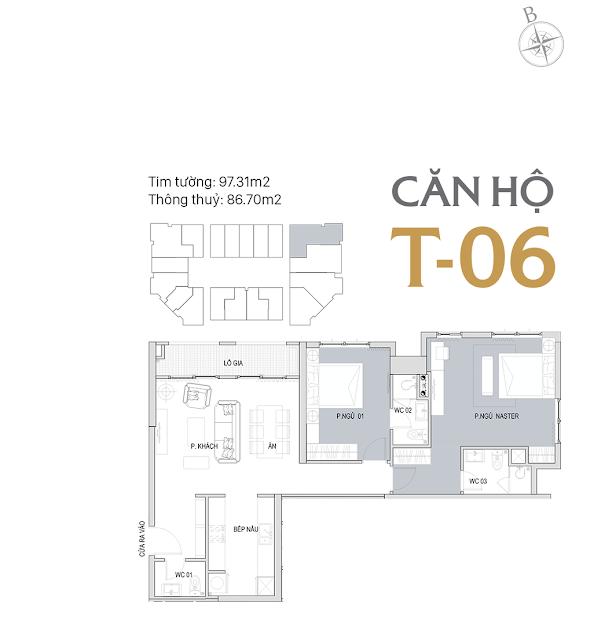 Thiết kế chi tiết căn hộ E1-06 dự án D'el Dorado phú thượng