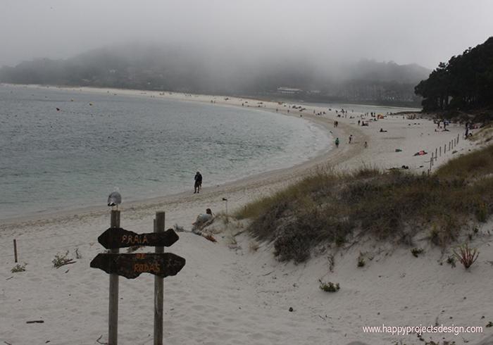Playa de Rodas en las islas Cíes (Galícia)