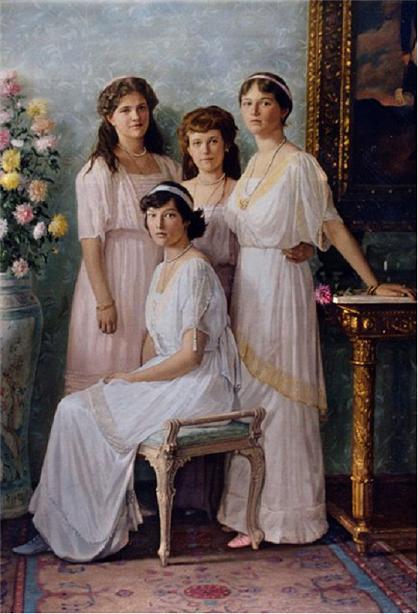 Princesas Russas, Maria Anastasia, Olga e Tatiana