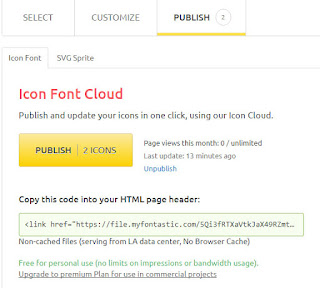 Font Cloud fontastic font