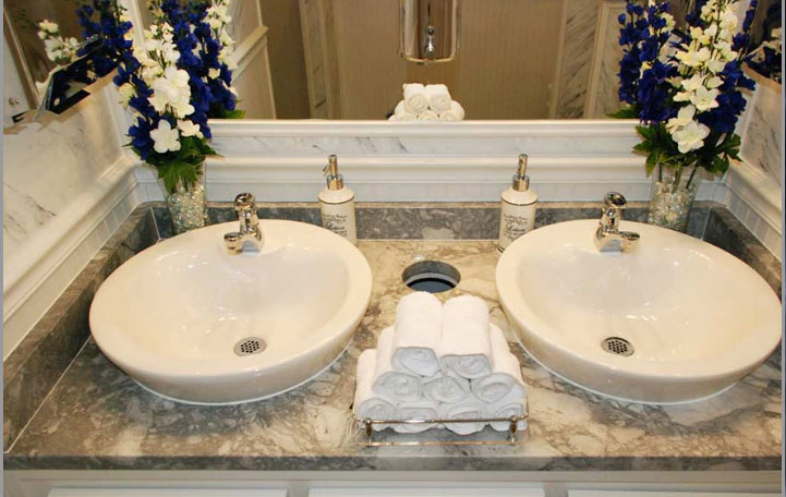Cool The Plaza Bathroom Vanity with Vessel Sinks