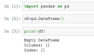 Creating Empty Dataframe
