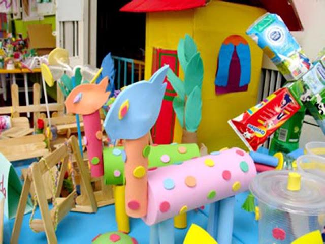 đồ chơi sáng tạo ở trường mầm non