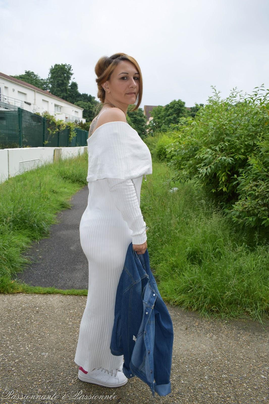 robe longue épaule dénudés