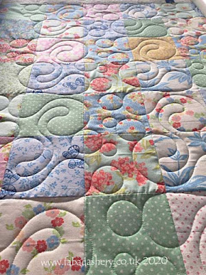 'Bubble Bath' digital quilt pattern