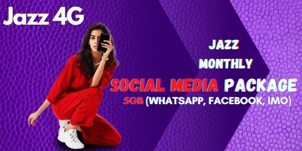 Jazz Monthly Social Package for Whatsapp, Facebook, IMO