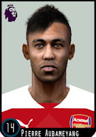 PES 6 Faces Pierre-Emerick Aubameyang by Dewatupai