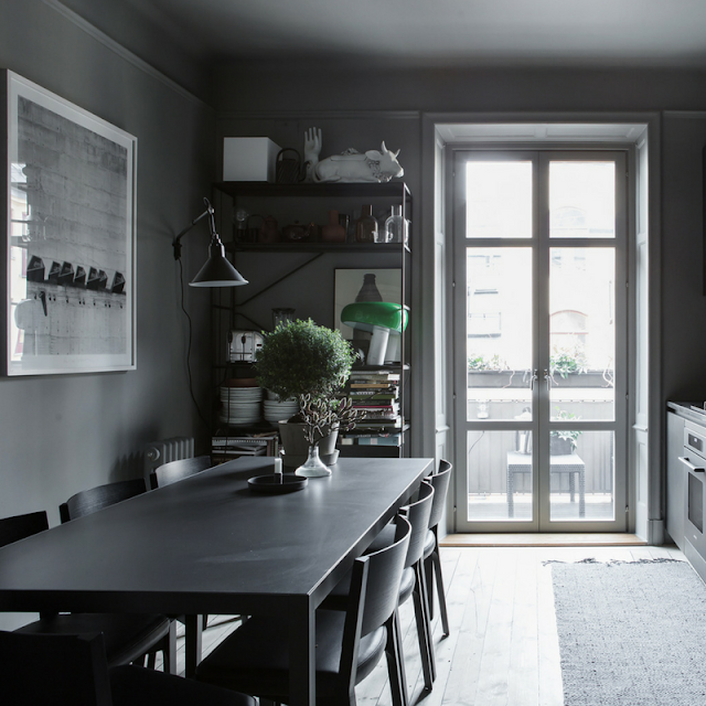 grey kitchen space • the round button blog