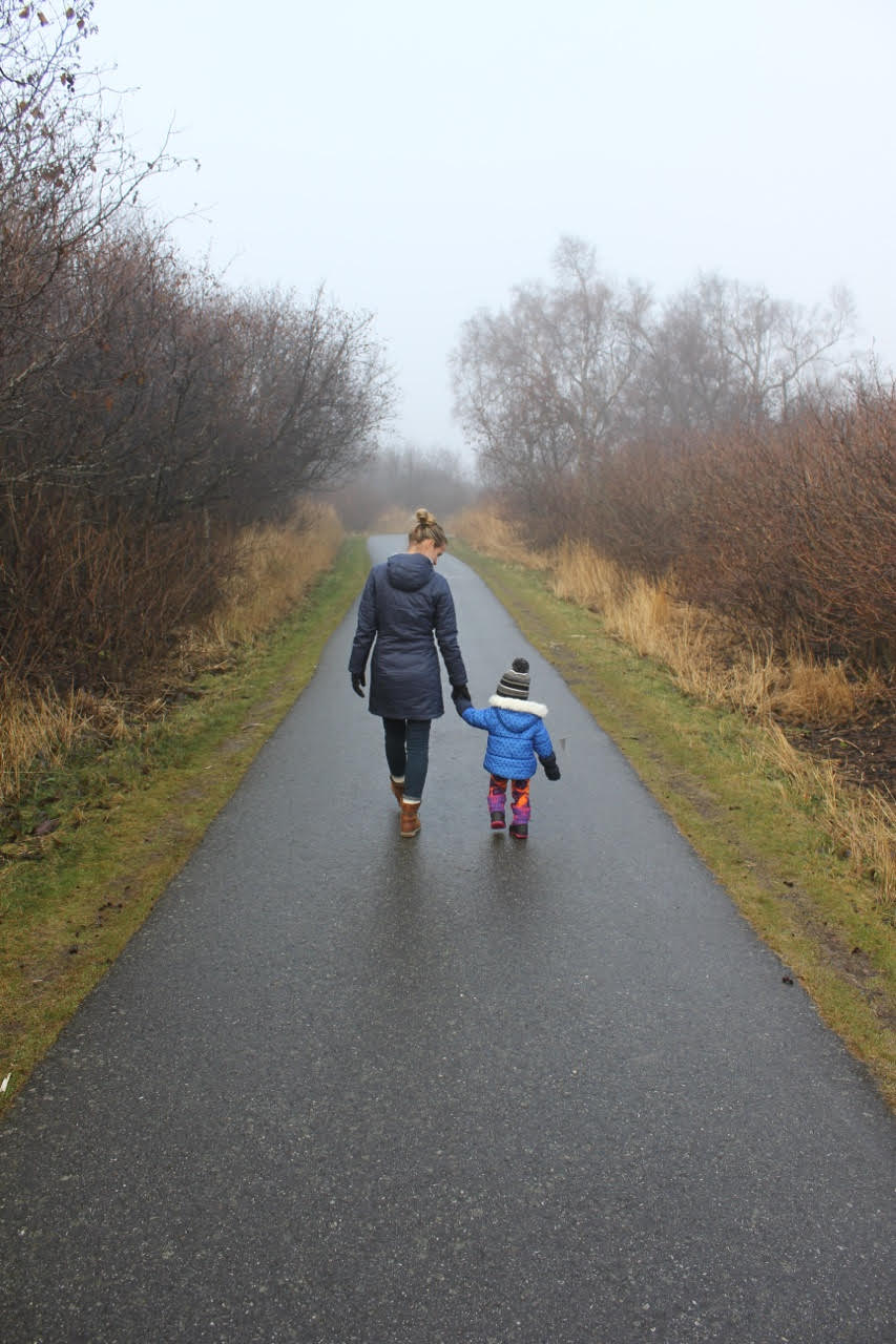 Mother and daughter at Kincaid Park, Anchorage, Alaska