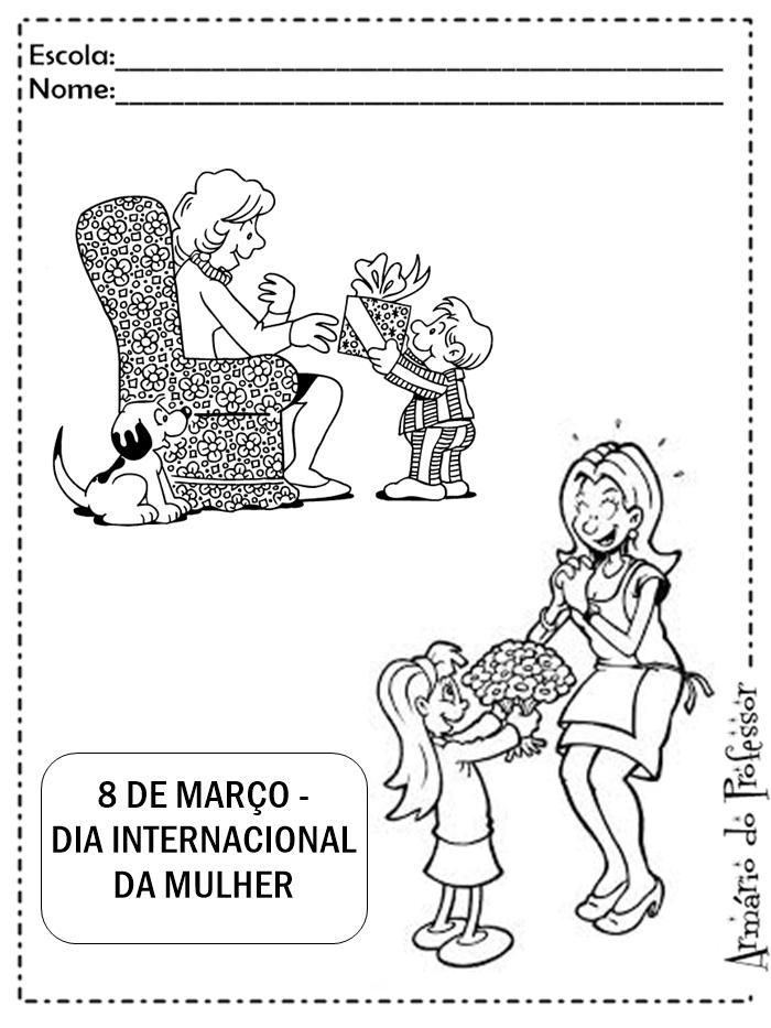 Plano De Aula Dia Internacional Da Mulher Com Atividades Armário