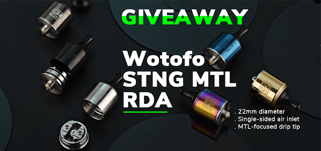 Wotofo STNG MTL RDA Giveaway