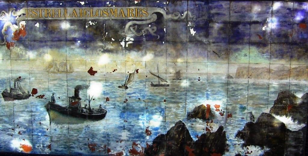 Vista del mural Estrella de los mares