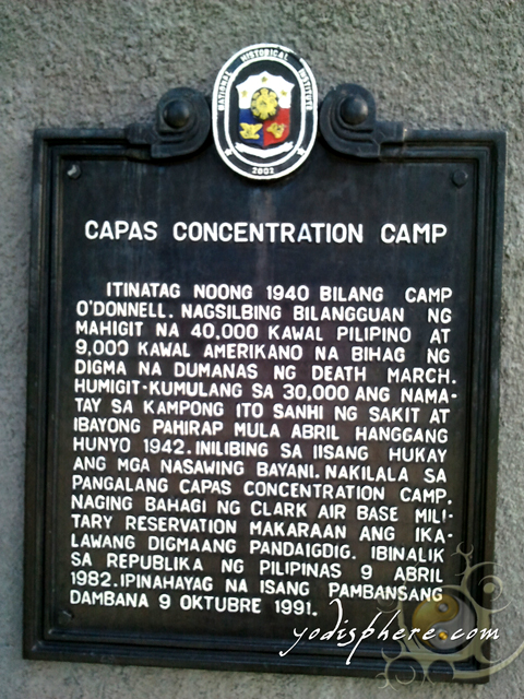 Historical Marker on the Capas Concentration Camp - Tarlac