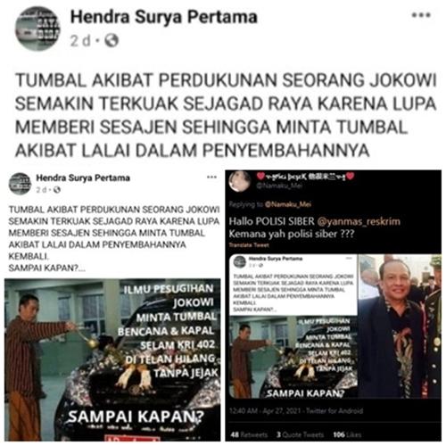 Dikecam! Pria Ini Sebut Jokowi Pakai Dukun dan KRI Nanggala 402 Jadi Tumbal