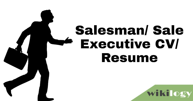 Salesman CV with Cover Letter Executive Sale Resume