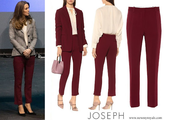 Kate Middleton wore JOSEPH Zoom cady slim pants