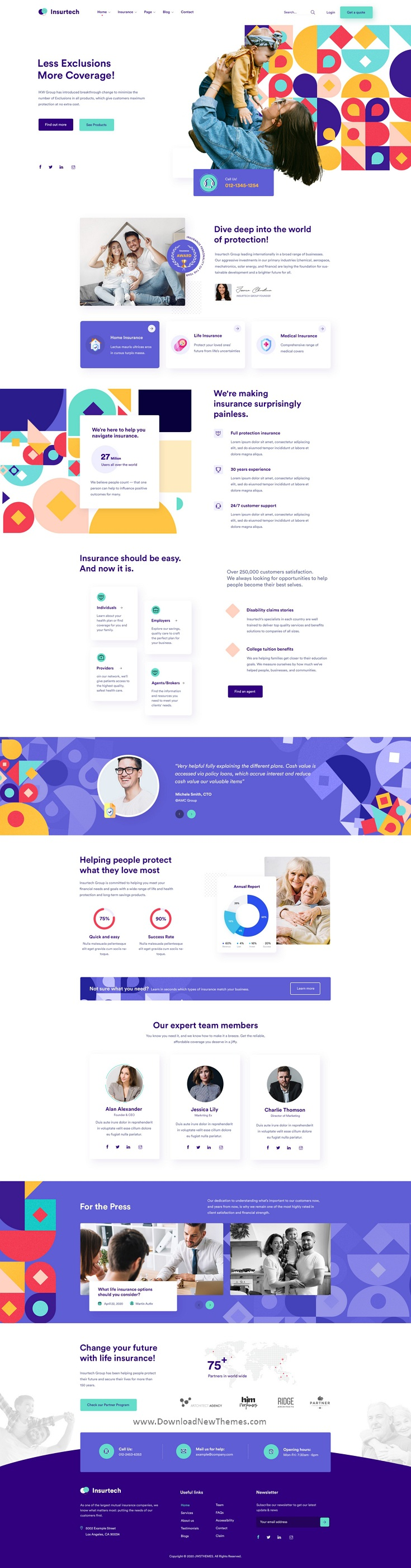 Insurance Agency PSD Template