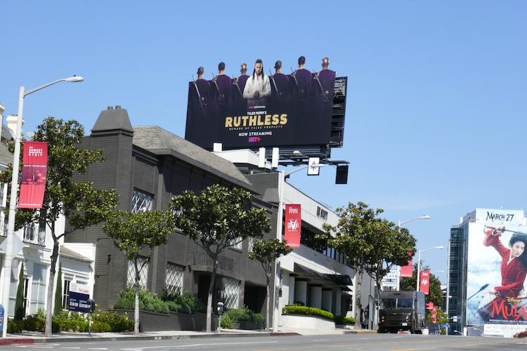 Ruthless TV series billboard
