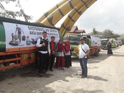 Konvoi Water Tank ACT Lampung Distribusikan Air Bersih di Banyumas Pringsewu