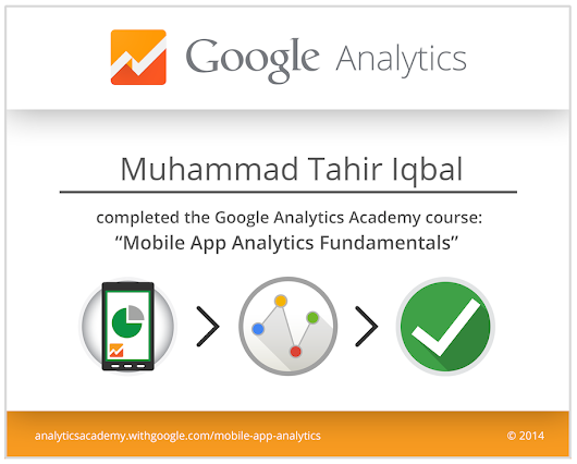 Google Mobile App Analytics Certificate