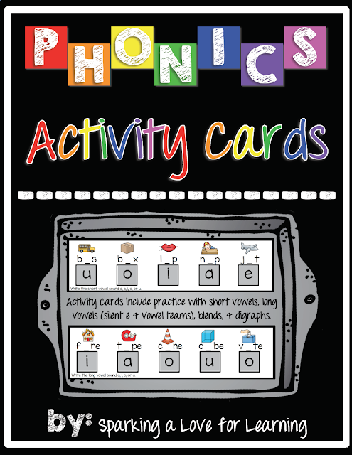 Phonics Activity Cards