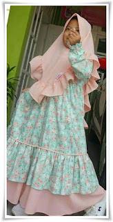 9. Baju gamis syar'i anak
