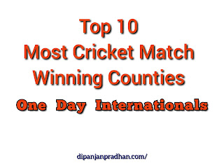 10 Most Winning Countries in One Day International Cricket