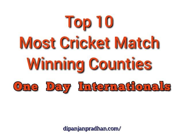 Top 10 Eniten Voittanutta Maata Yhden Päivän Kansainvälisessä Kriketissä