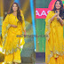 Anushka Shetty in Yellow Georgette Salwar