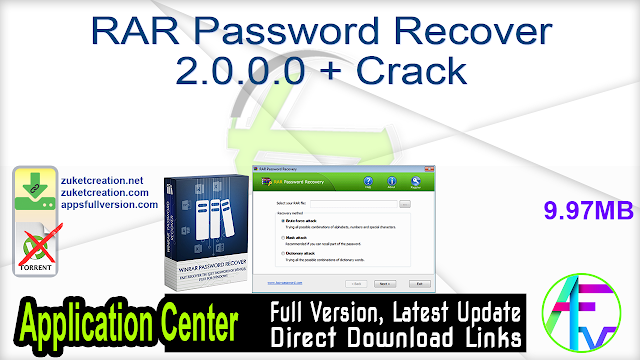 RAR Password Recover 2.0.1.0 + Crack