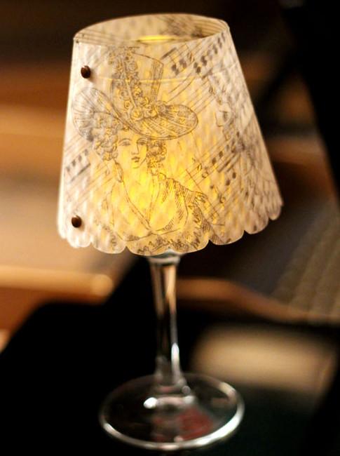 DIY Κηροπήγια με όψη μικρού ...φωτιστικού από γυάλινα Ποτήρια