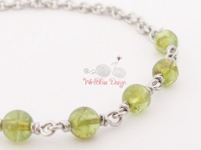 Wire Wrapped Minima Bracelet (Minlet) with Peridot @WireBliss Harmony