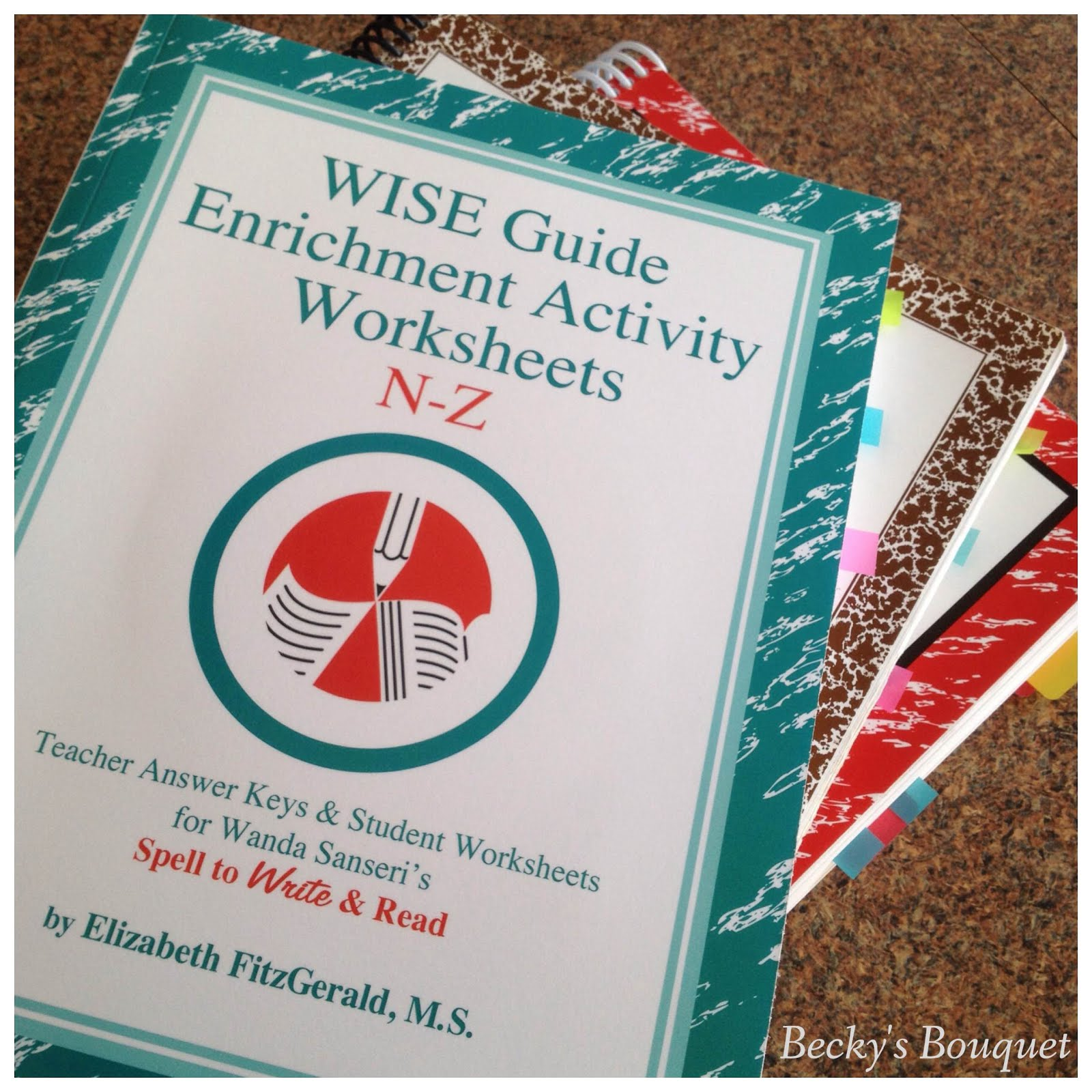 Review: WISE Guide Enrichment Activity Worksheets N-Z by Elizabeth ...