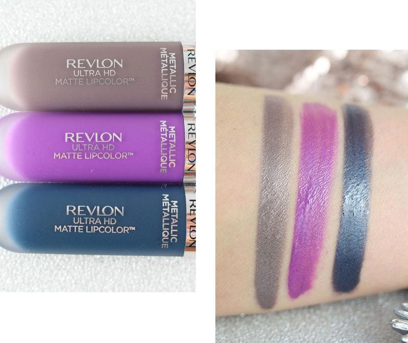 Revlon Ultra HD Matte Lipcolor Metallic,720 Luster Lustre, 710 Dazzle Eclat, 685 Glitz Brillant